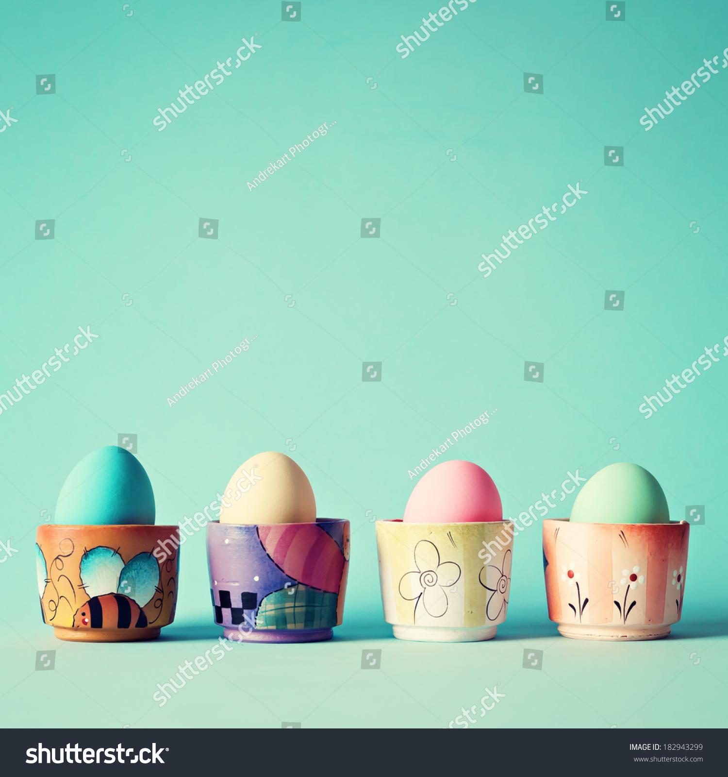 柔和的复活节彩蛋-背景/素材,复古风格-海洛创意()-合