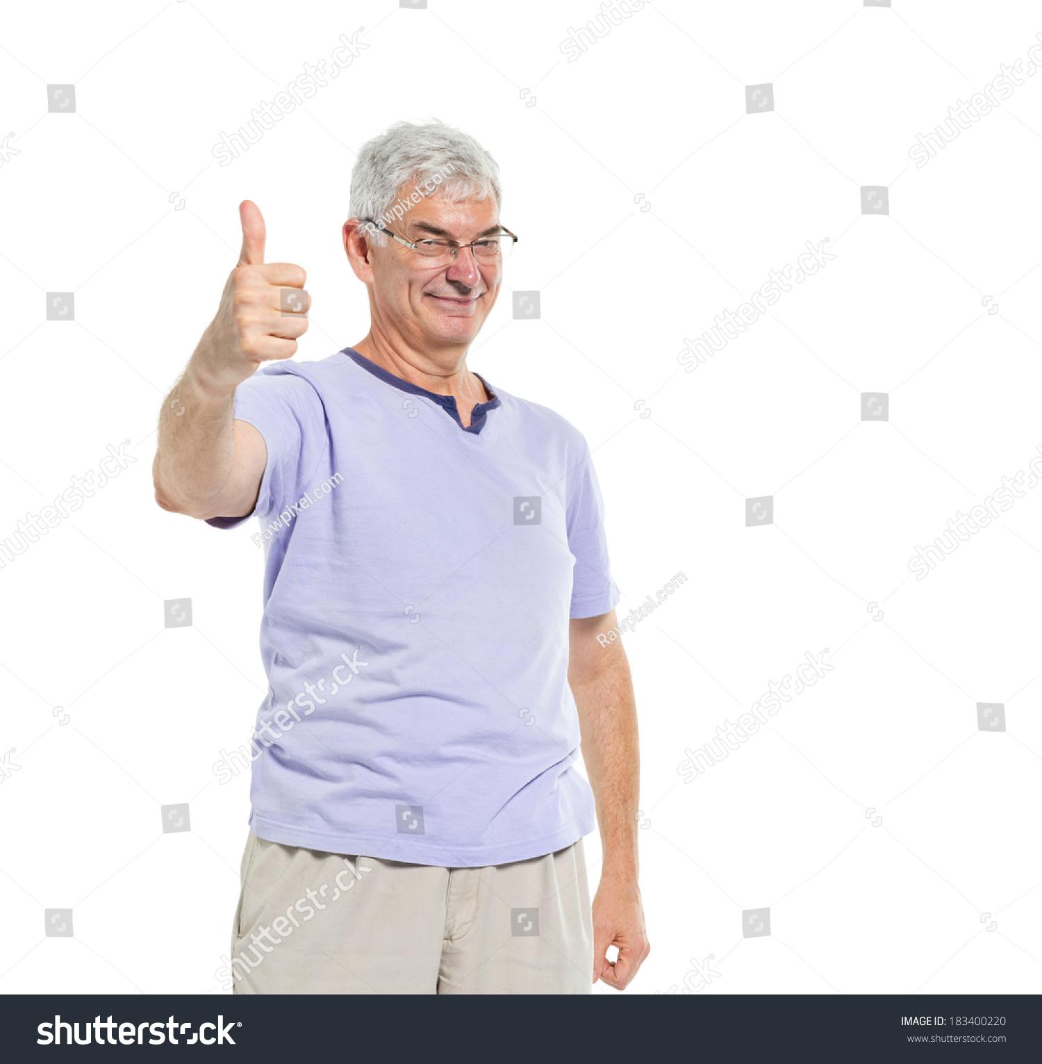开朗成熟的人竖起大拇指-人物-海洛创意(hellorf)--.