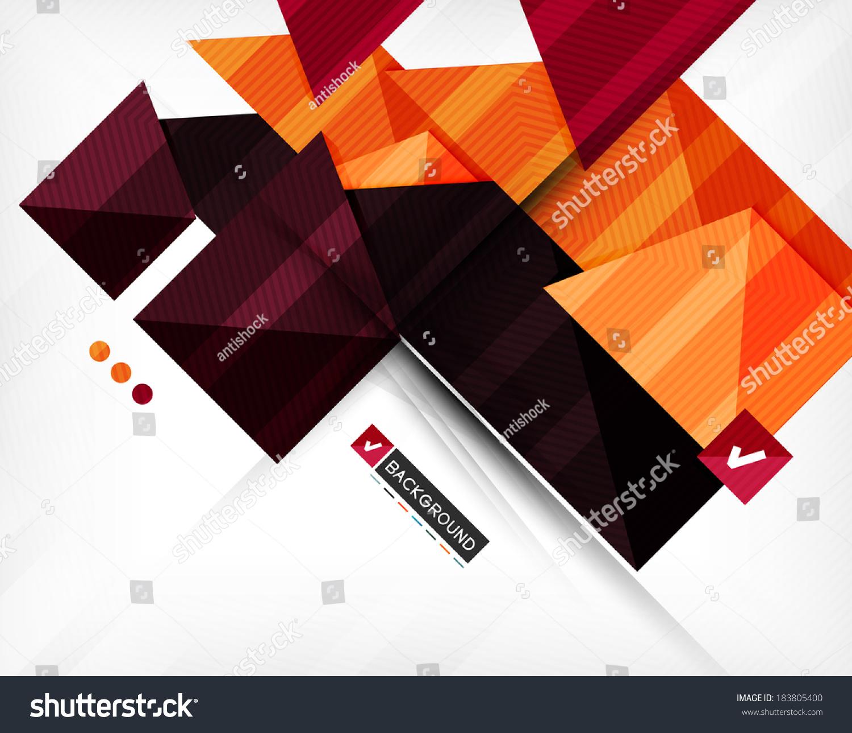 抽象的几何形状组成-背景/素材