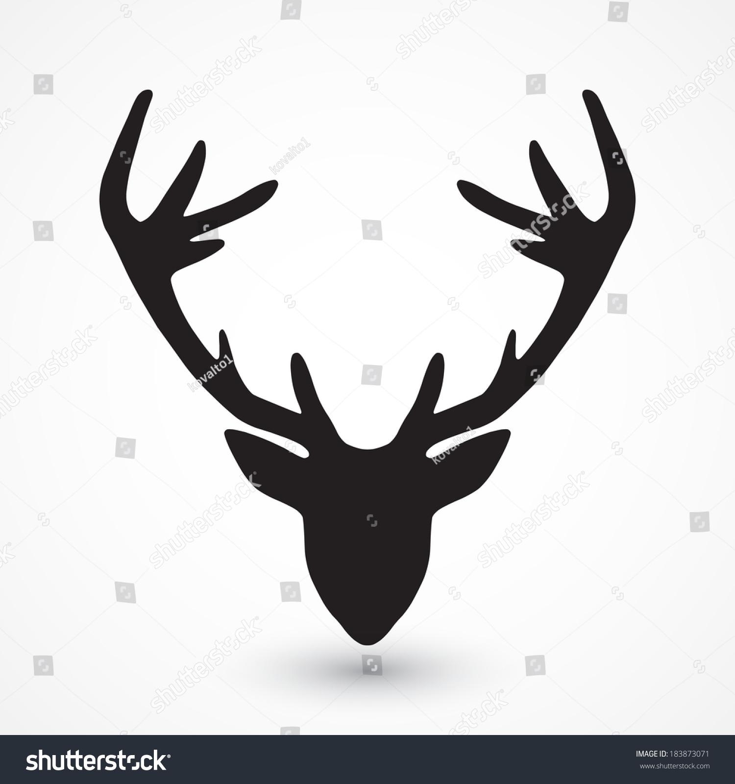 鹿头影-动物/野生生物,符号/标志-海洛创意(hellorf)