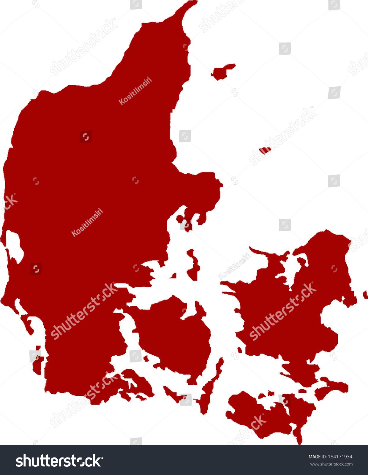 丹麦矢量地图-背景/素材