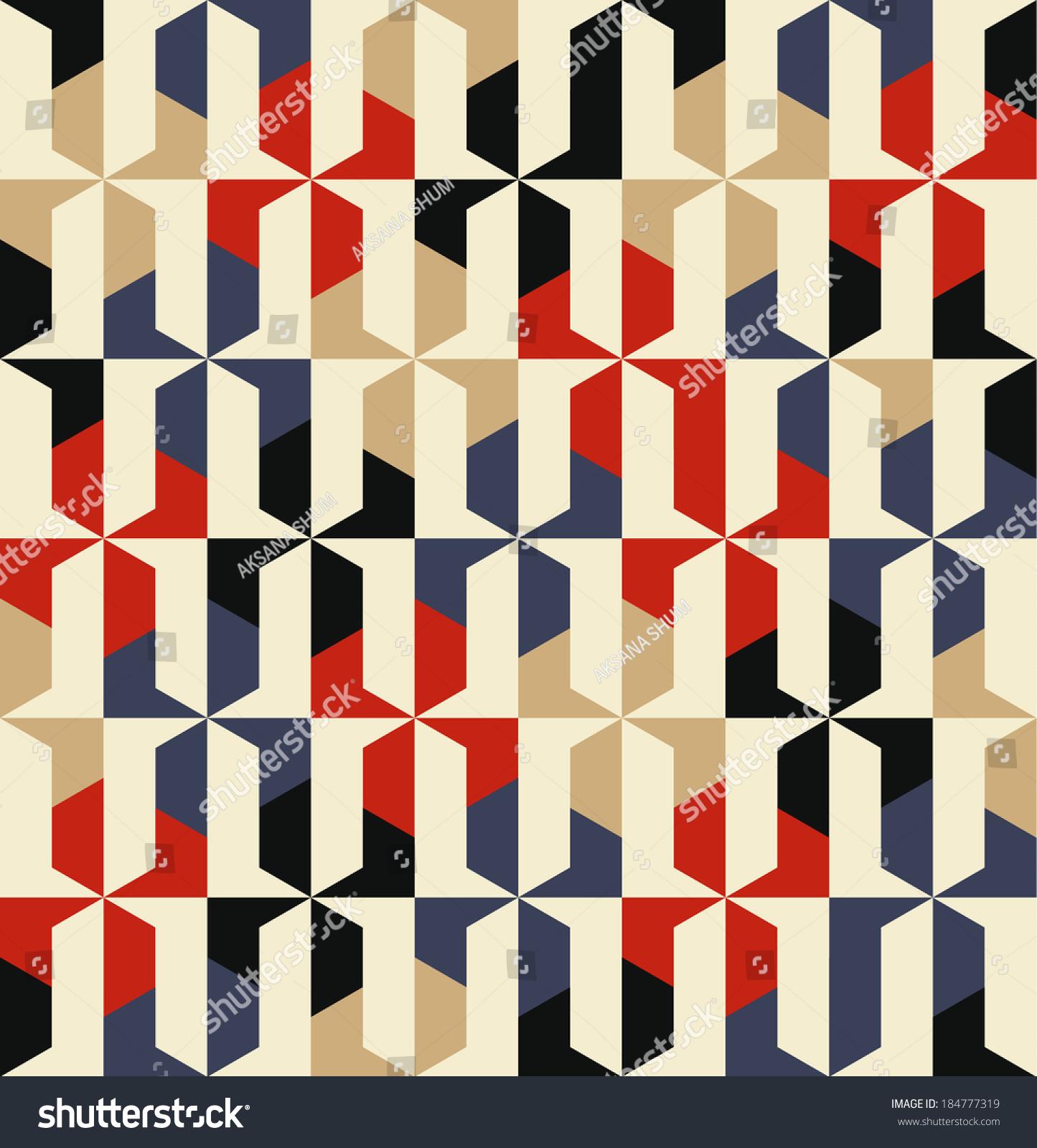 无缝矢量几何图形背景-背景/素材