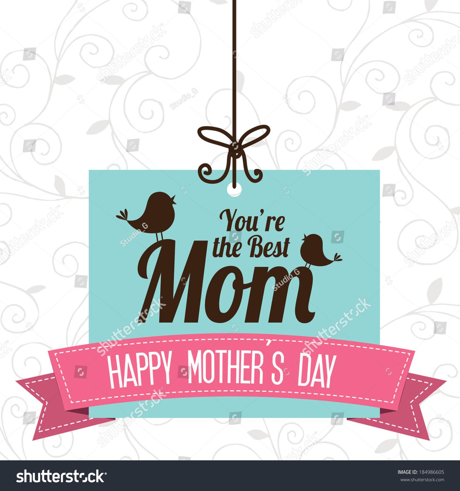 母亲节的设计背景,白色背景,矢量插图-背景/素材,假期