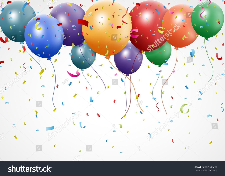 生日庆典气球和丝带-背景/素材,假期-海洛创意()-中国