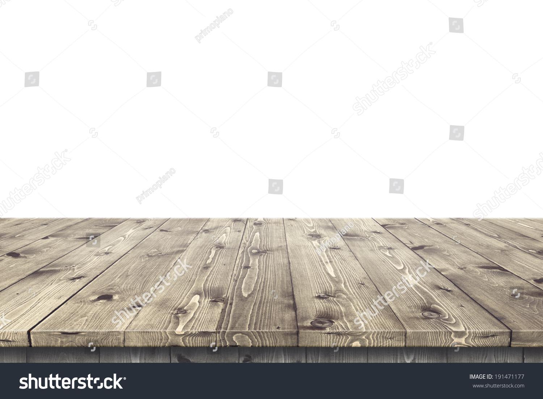 空木桌子在阳光普照的夏季花园产品放置或蒙太奇在上