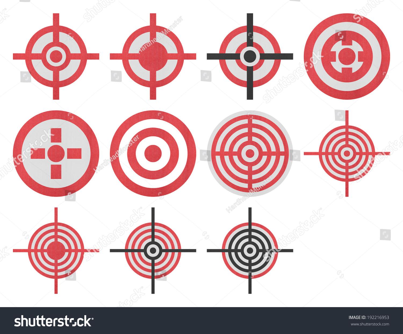 目标图标枪射击运动的剪纸和军事上白色背景-物体