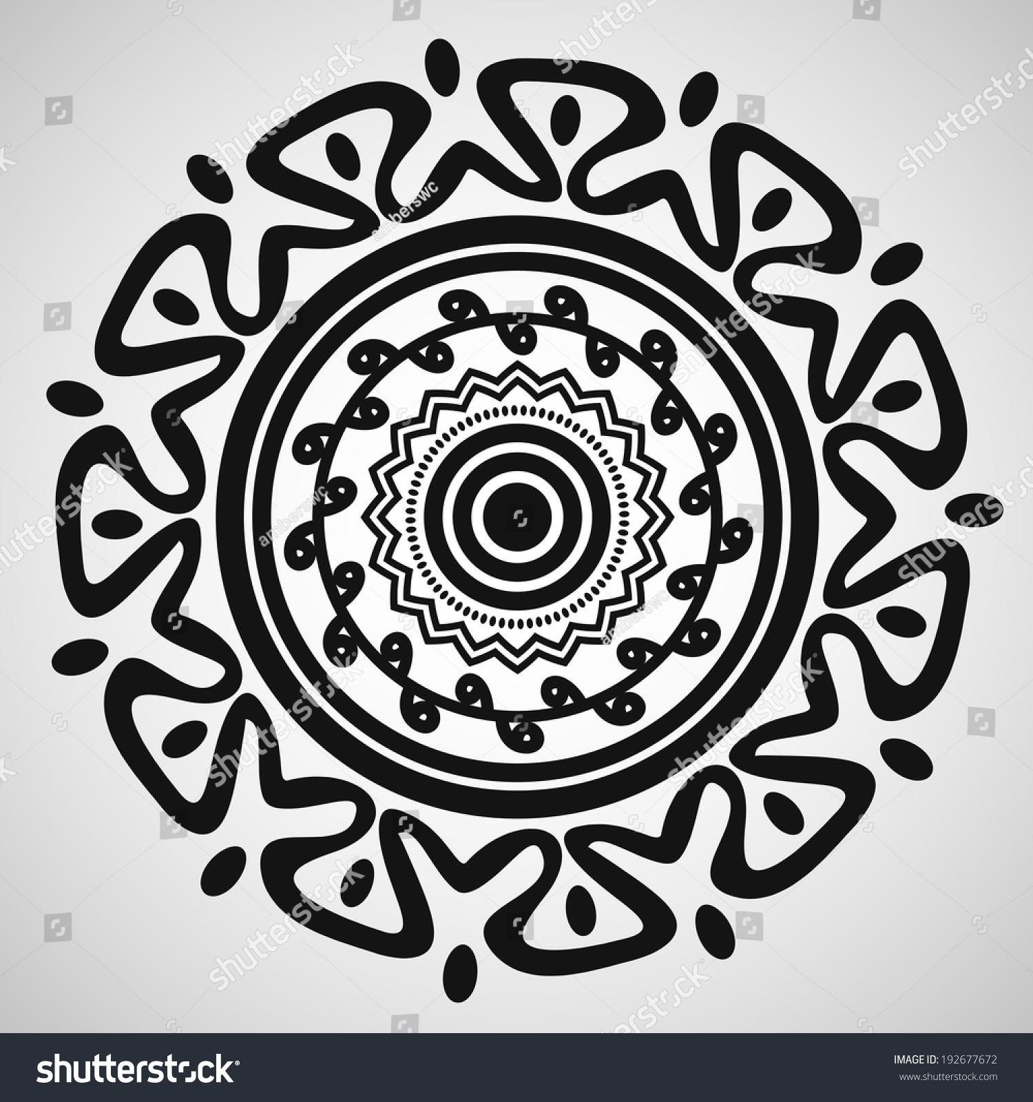几何民族饰品-背景/素材,其它-海洛创意(hellorf)--.
