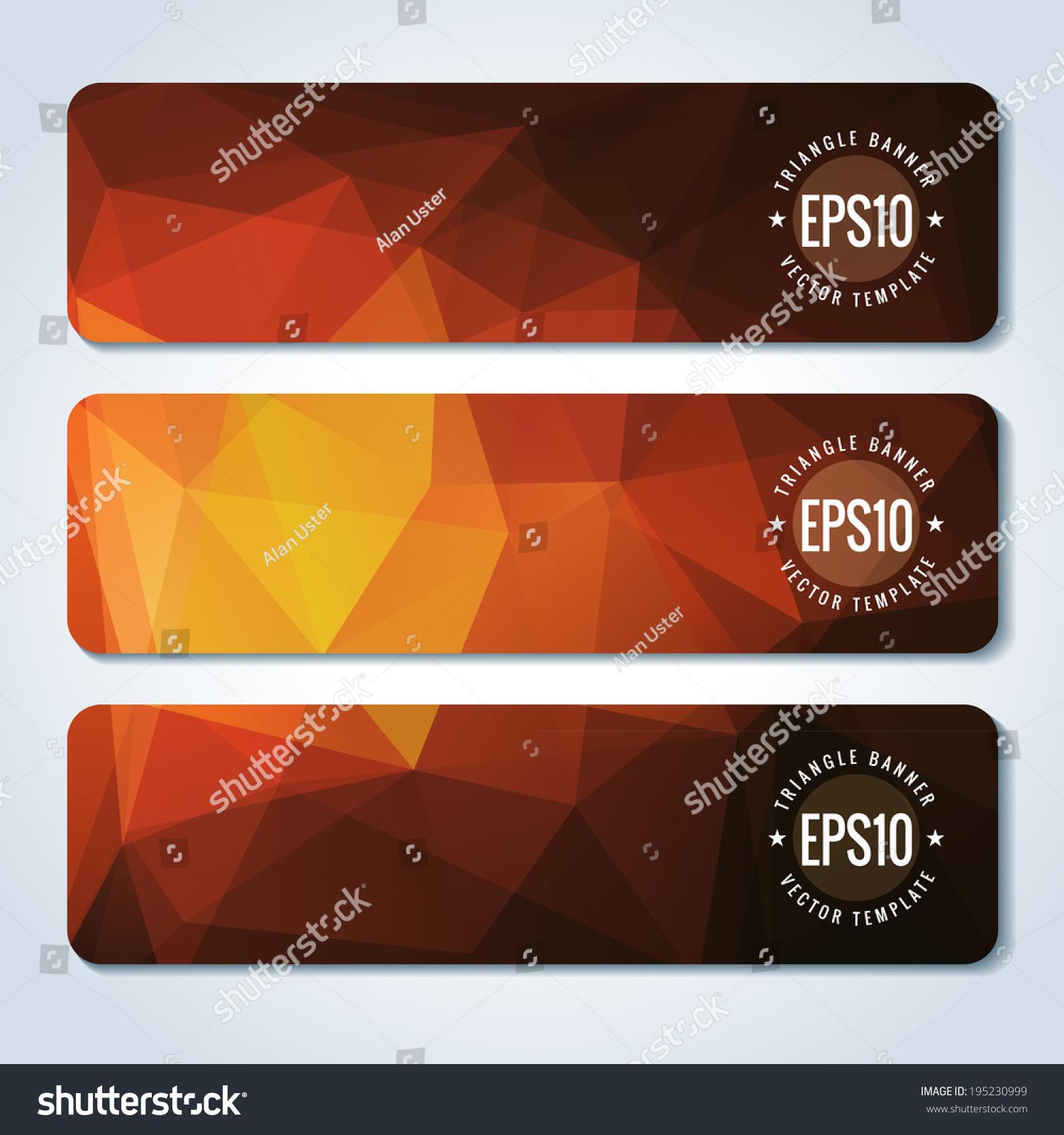 红色网站标题与三角形模式或横幅-背景/素材