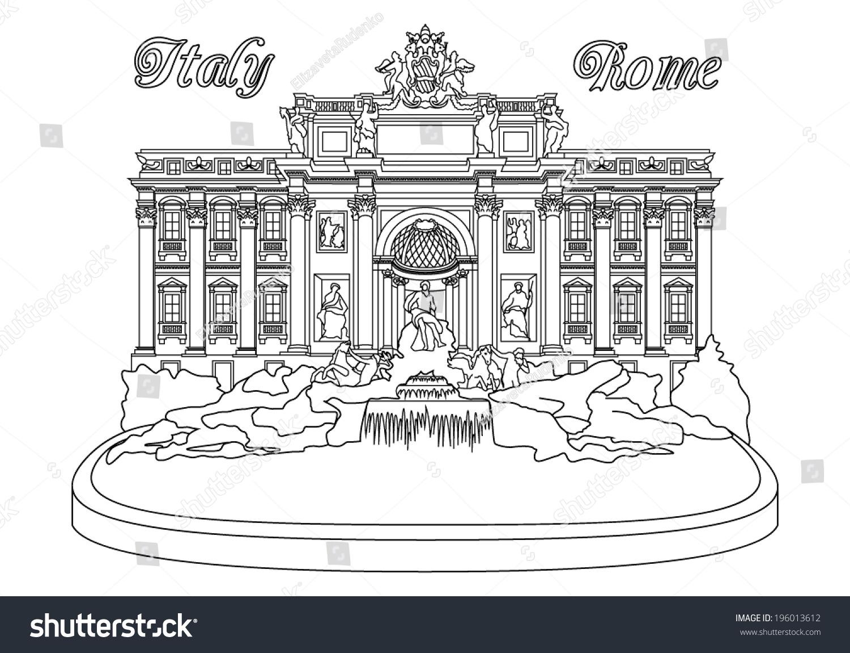 特莱维泉,罗马,意大利-建筑物/地标,物体-海洛创意()