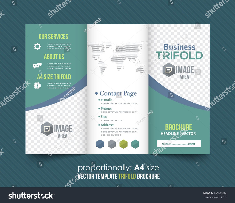三重折叠小册子和目录矢量设计模板-商业/金融,符号