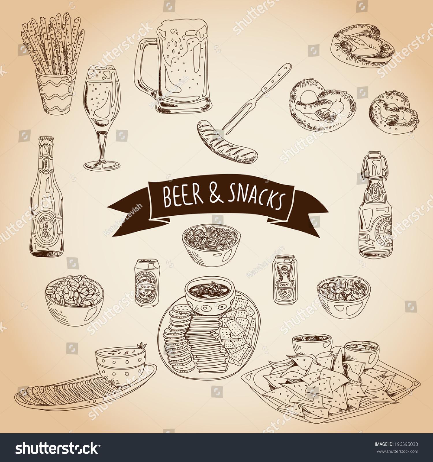 零食创意海报手绘