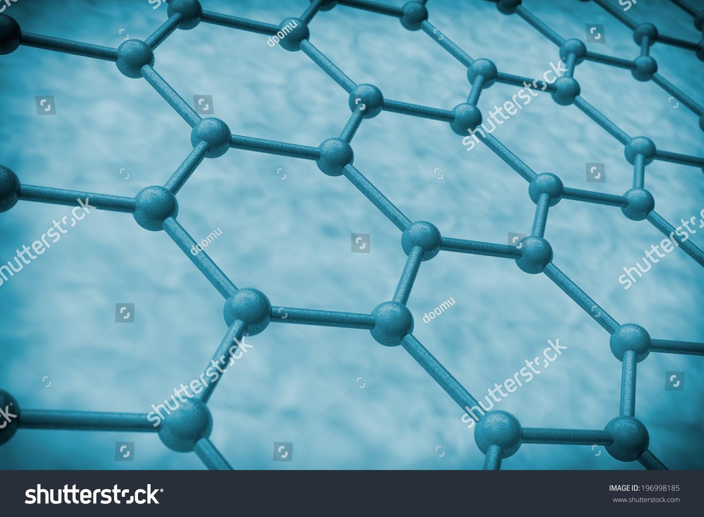 极端特写镜头蓝色分子医学背景-科学,抽象-海洛创意()