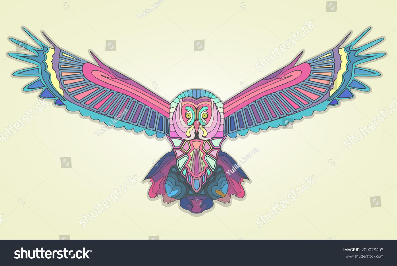马赛克猫头鹰-动物/野生生物,抽象-海洛创意(hellorf)