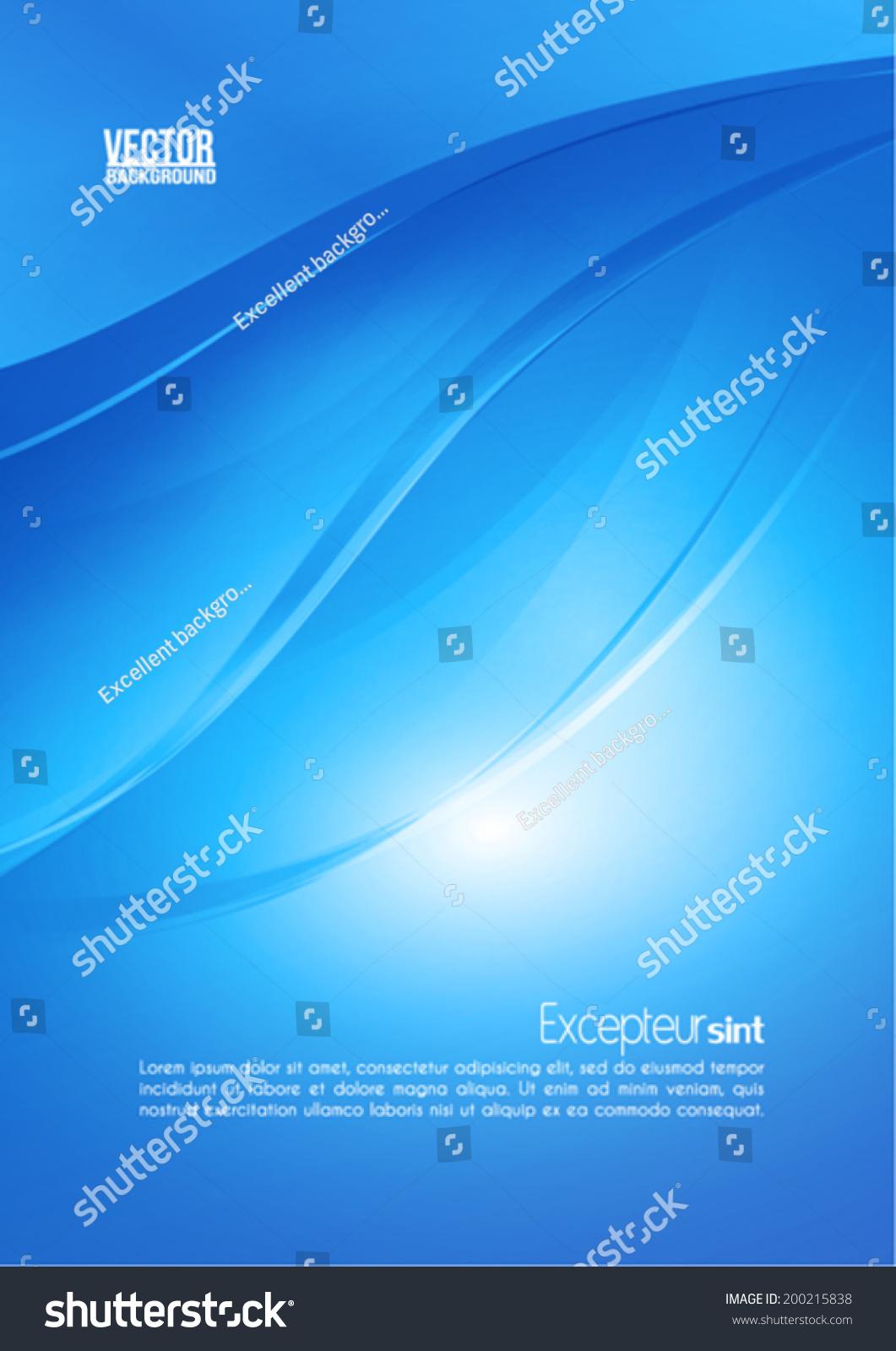 抽象的蓝色背景和灯光效果.向量-背景/素材,抽象-海洛