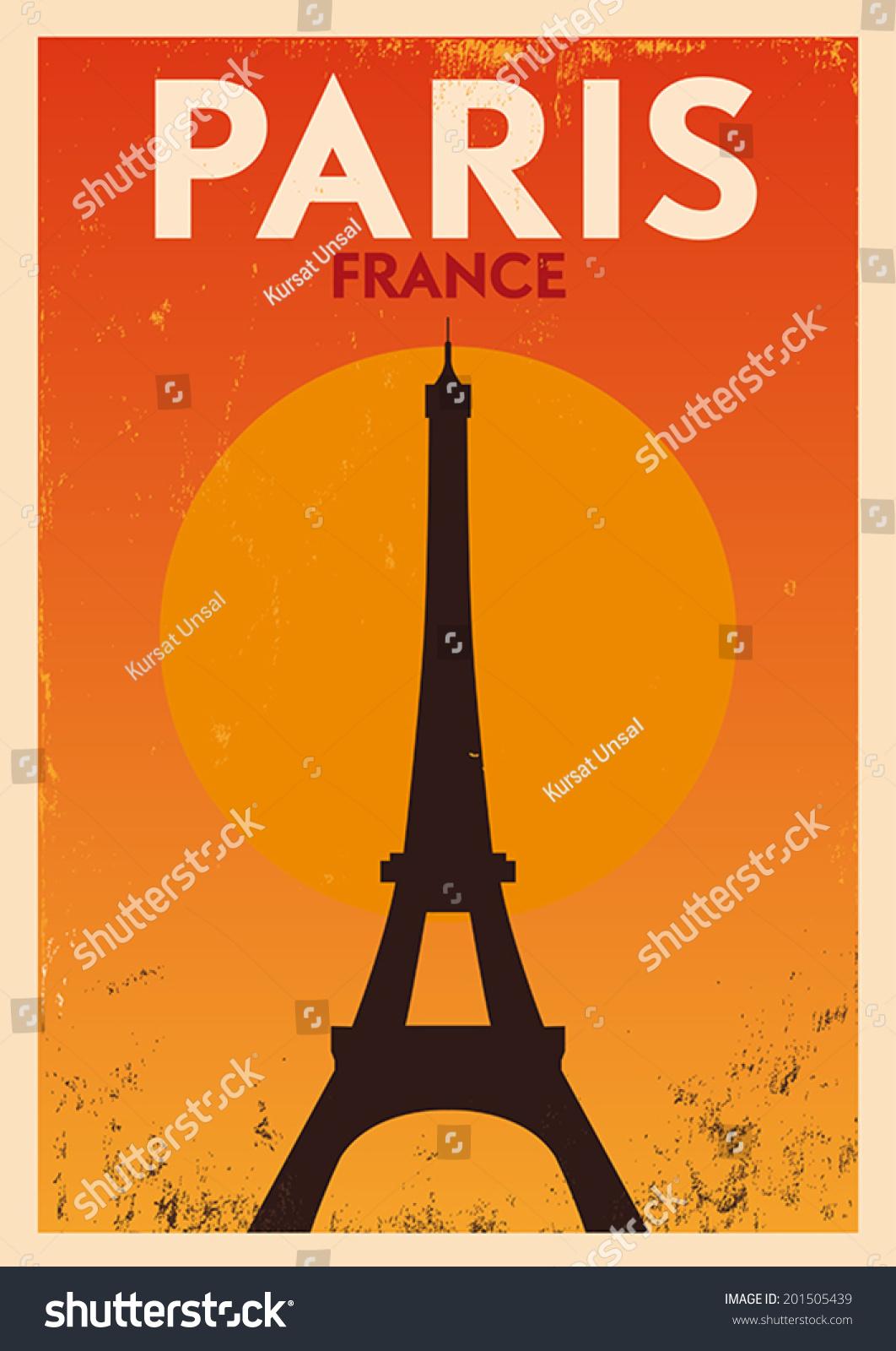 海报设计排版巴黎城市-建筑物/地标,符号/标志-海洛()