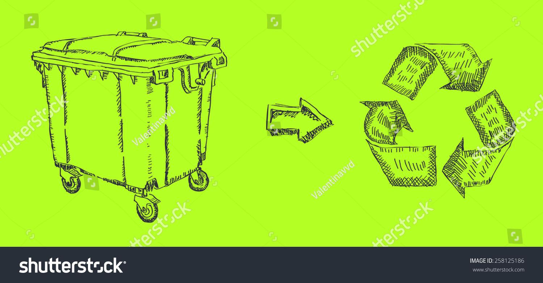 垃圾桶-物体,符号/标志-海洛创意(hellorf)-中国独家
