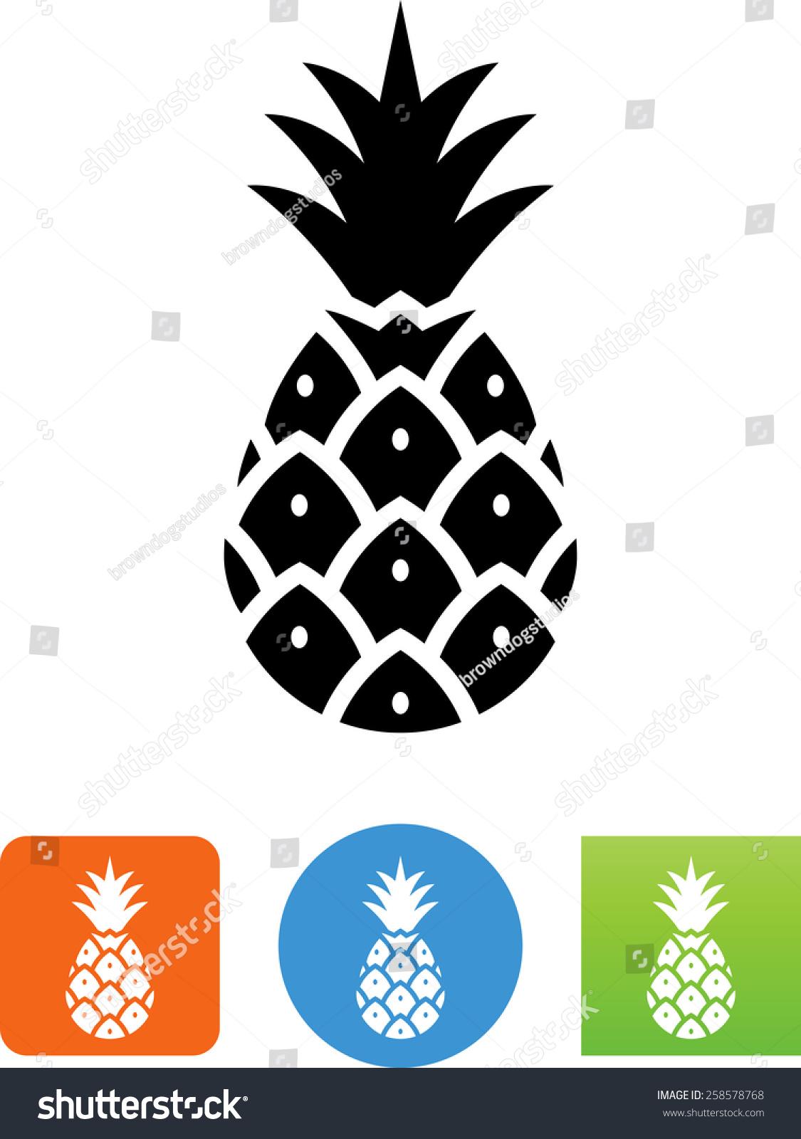 菠萝创意设计黑白