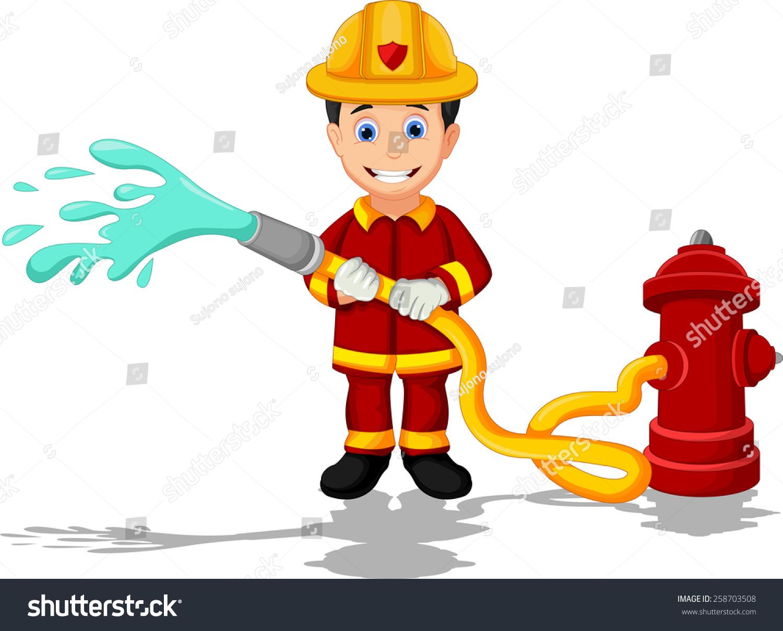 消防员卡通-人物-海洛创意(hellorf)-shutterstock-.