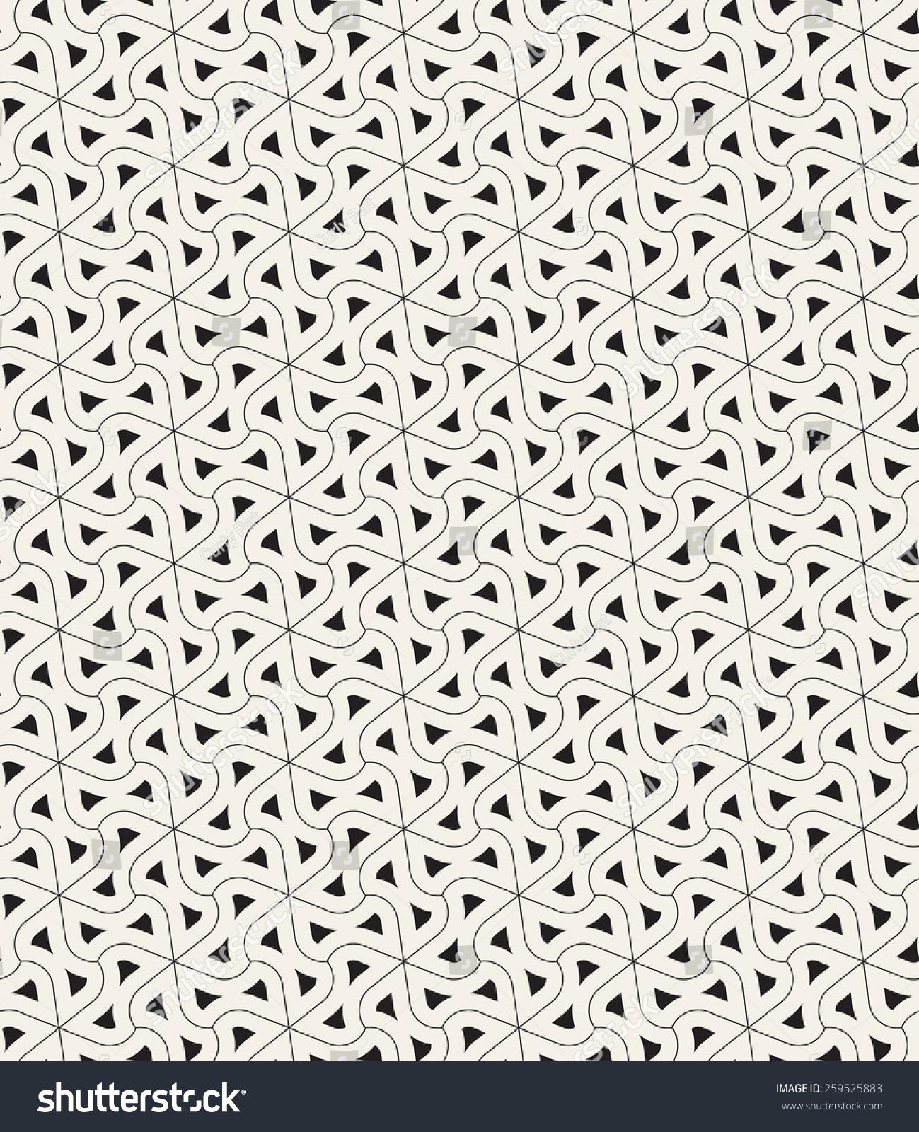 矢量无缝模式.现代几何网格纹理.扭曲三角形光滑元素.