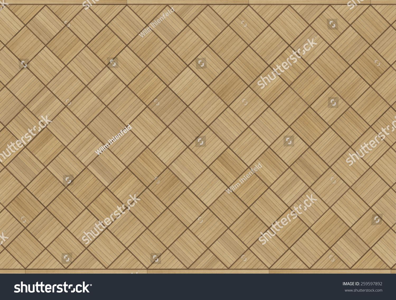 古典风格的方格橡木镶花地板-背景/素材