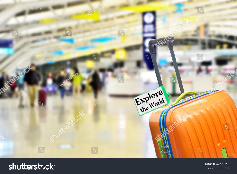 机场橙色行李箱.-背景/素材,符号/标志-海洛
