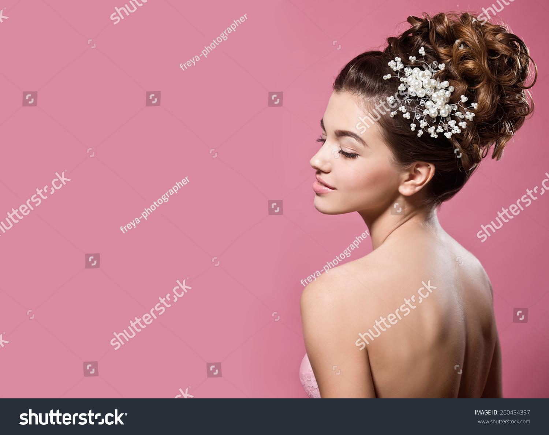 美丽的新娘.婚礼发型-人物,美容/时装服饰-海洛创意()