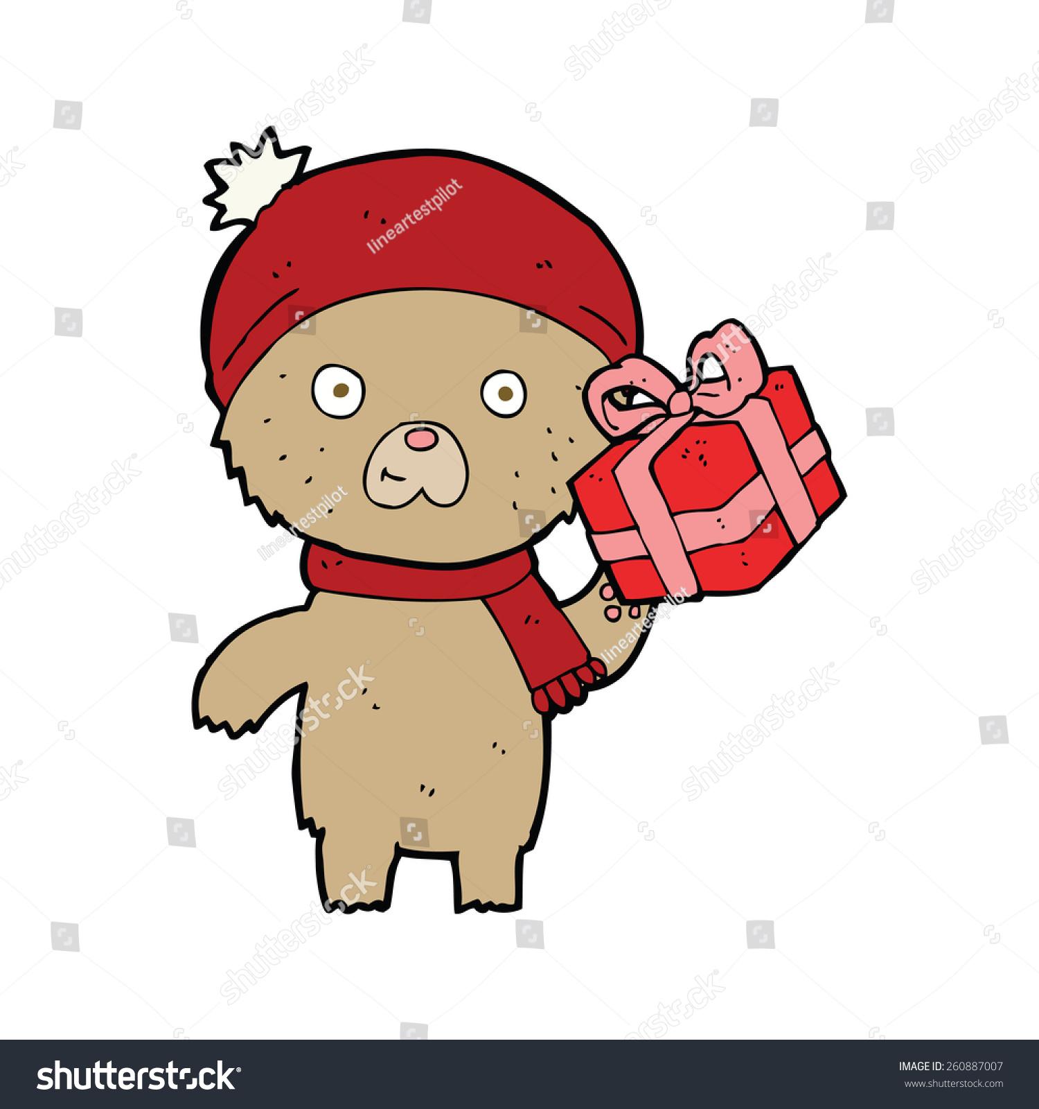 卡通圣诞礼物泰迪熊