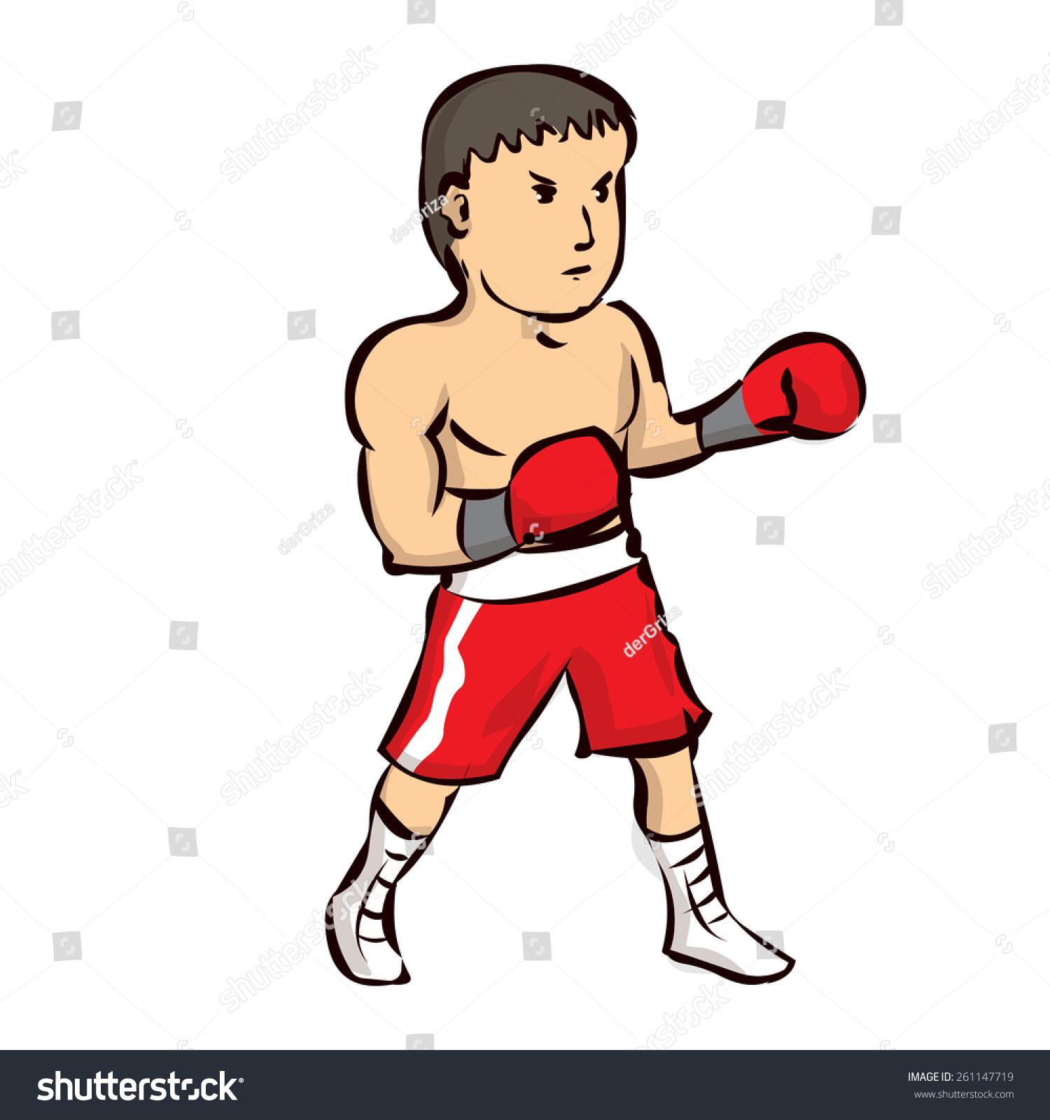 手绘卡通拳击手-人物,运动/娱乐活动-海洛创意()-中国