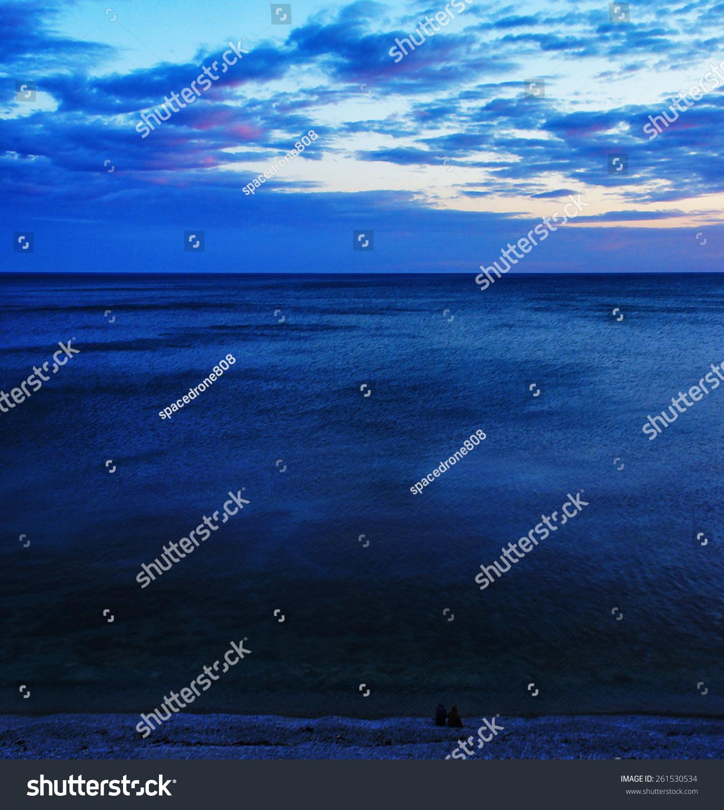 微信蓝天白云大海风景图片
