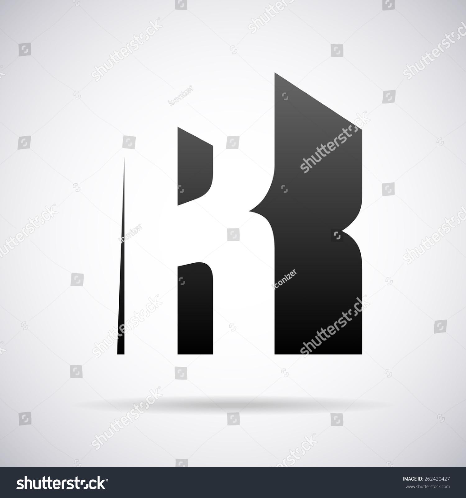 矢量标志字母k设计模板-符号/标志,抽象-海洛创意()-.
