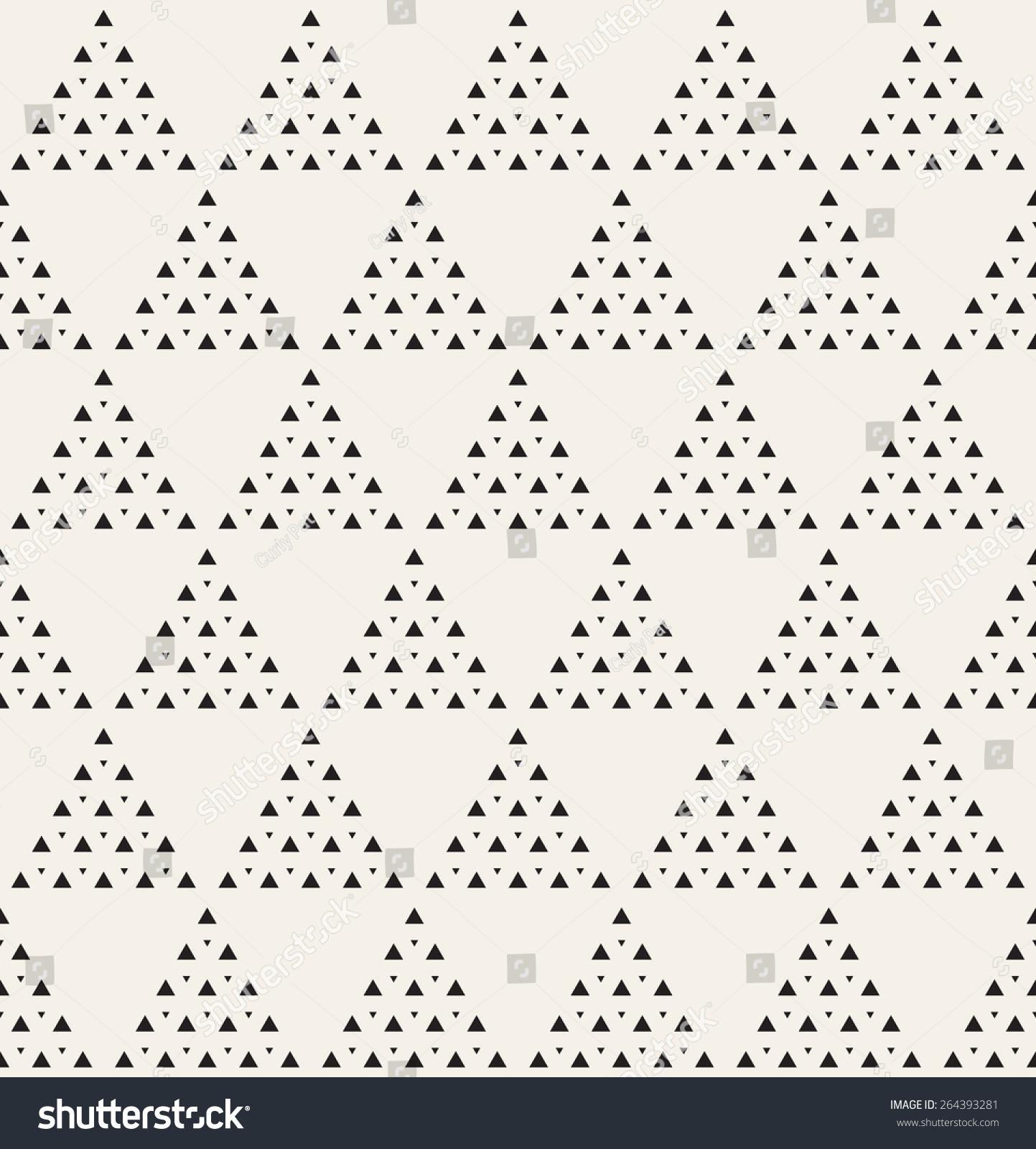 现代时尚的纹理.重复与虚线三角形几何