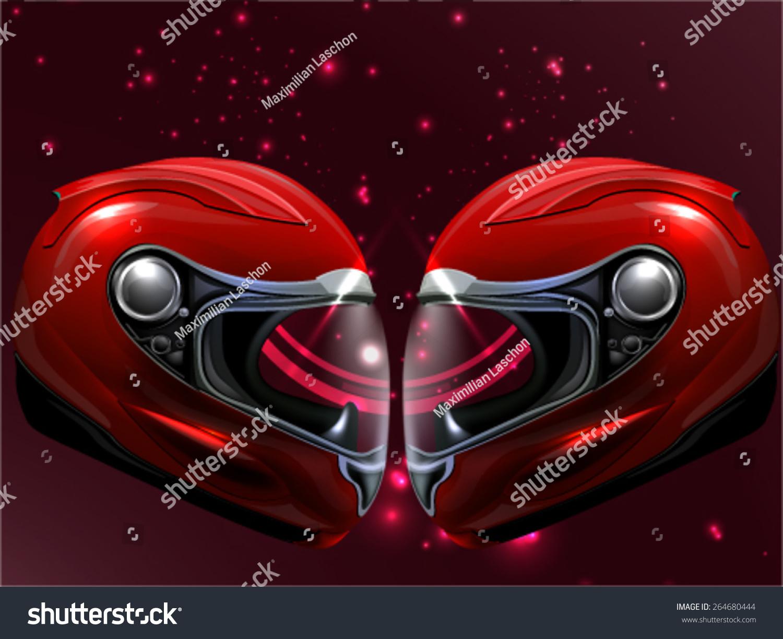 头红色的摩托车-背景/素材,运动/娱乐活动-海洛创意()