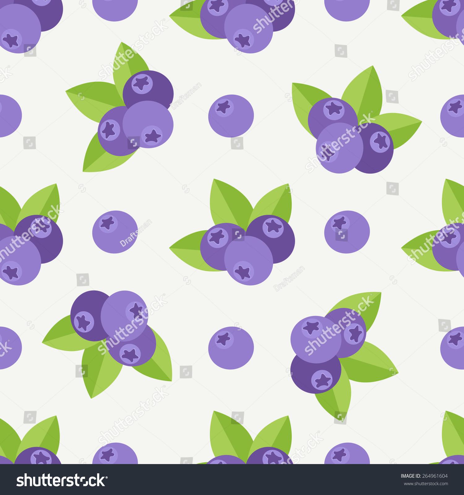 与蓝莓无缝模式.为你的设计装饰主题-背景/素材,食品