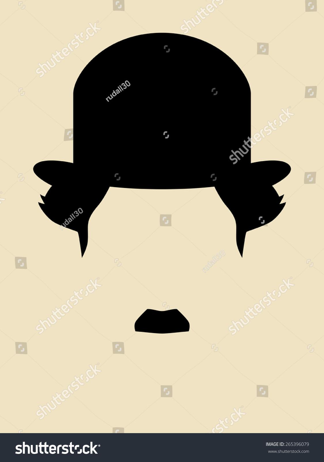 胡子的男人穿着一件老式的帽子的象征-人物,符号/标志