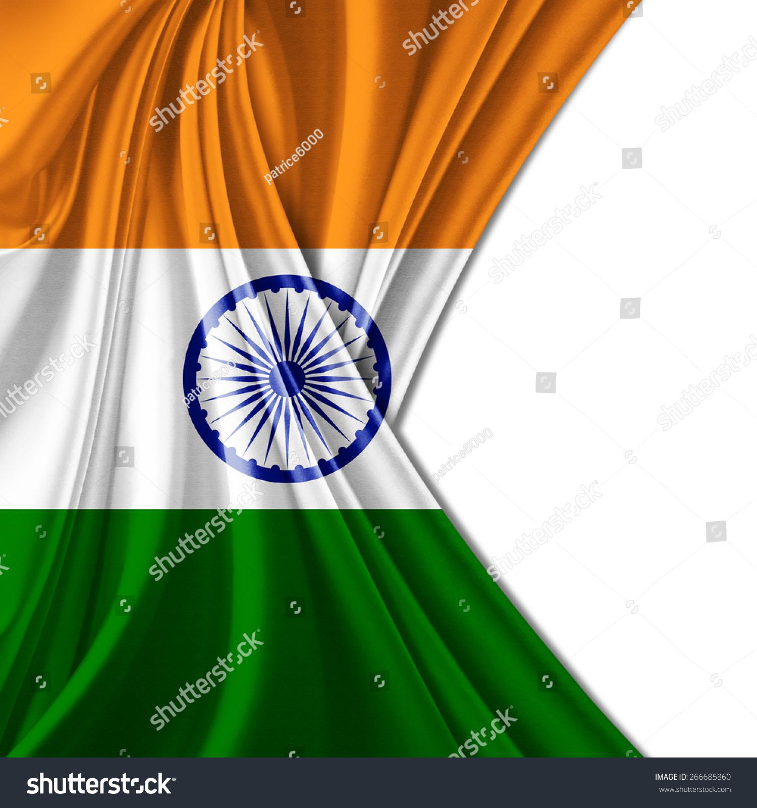 印度国旗和白色背景-背景/素材,符号/标志-海洛创意()