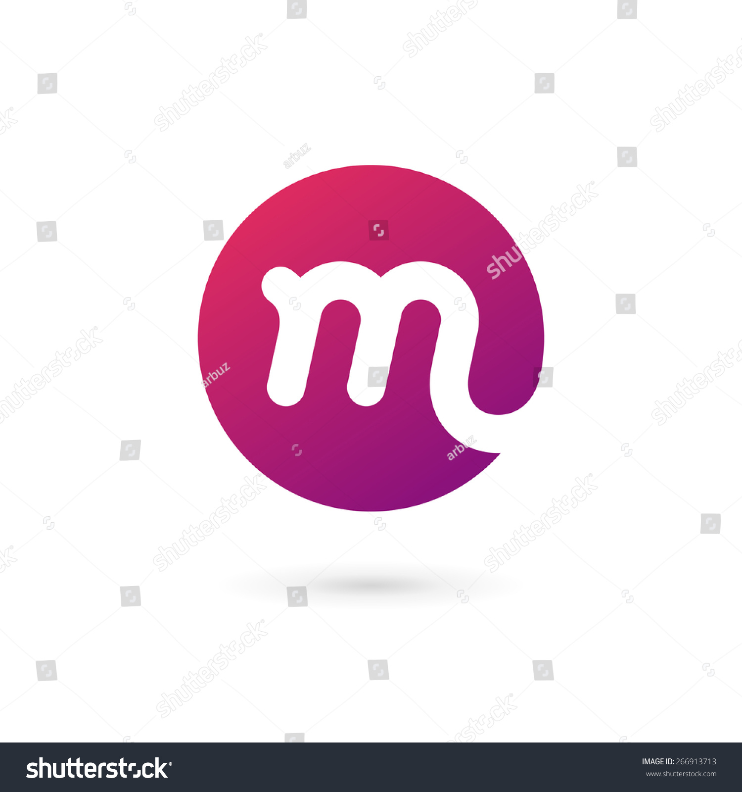 字母m标志图标设计模板元素-符号/标志,抽象-海洛创意