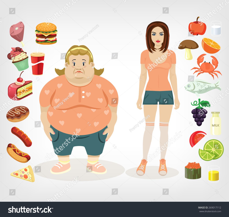 关于食物的卡通图片