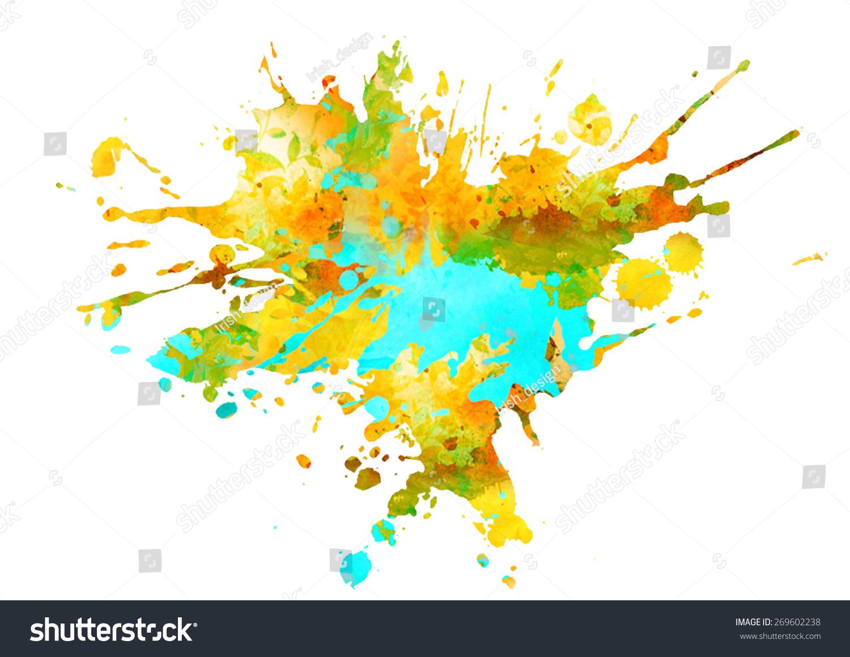 颜料风景画步骤