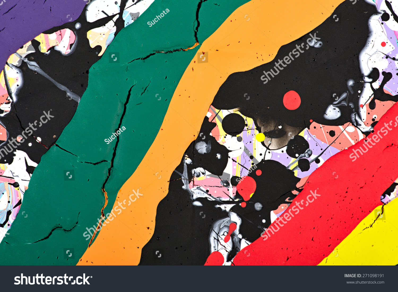 七彩的彩虹色斑和条纹的纹理.
