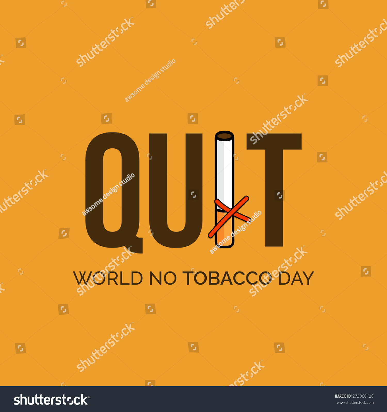 英语戒烟创意海报图片