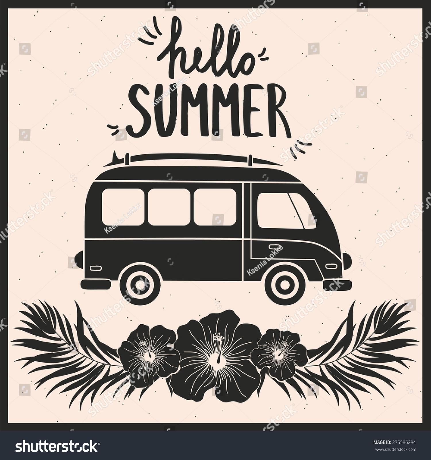 暑假和旅游排版贺卡-背景/素材