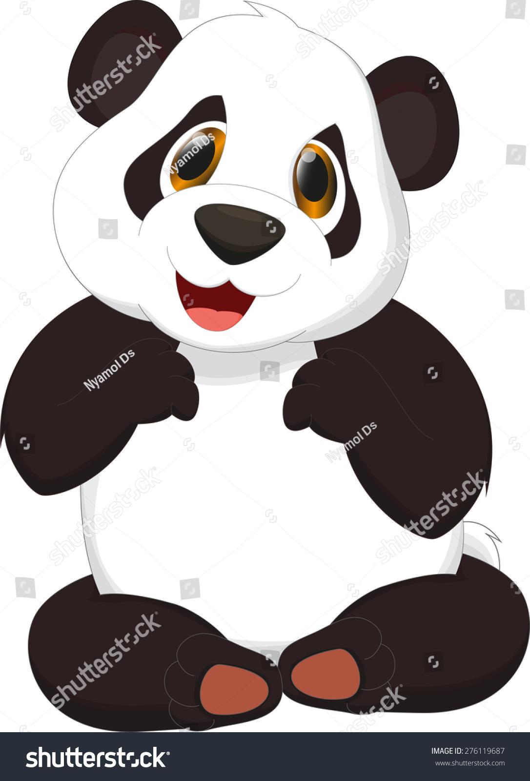 可爱的熊猫卡通-动物/野生生物-海洛创意(hellorf)