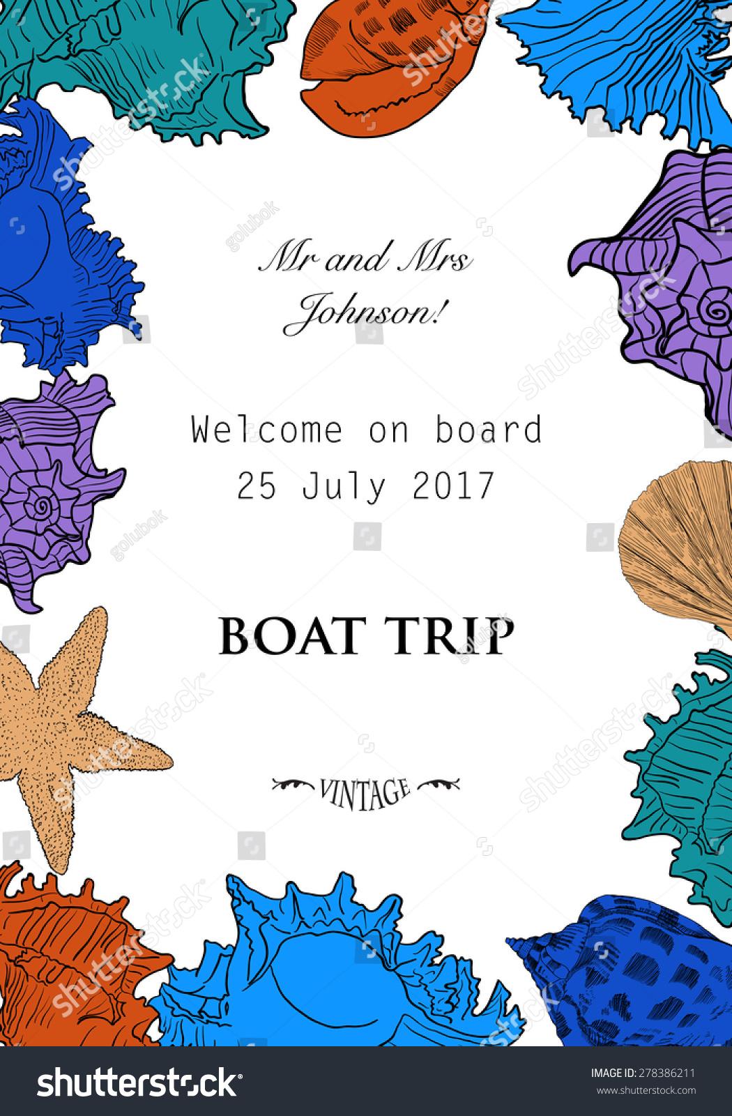 彩色插图旅游卡