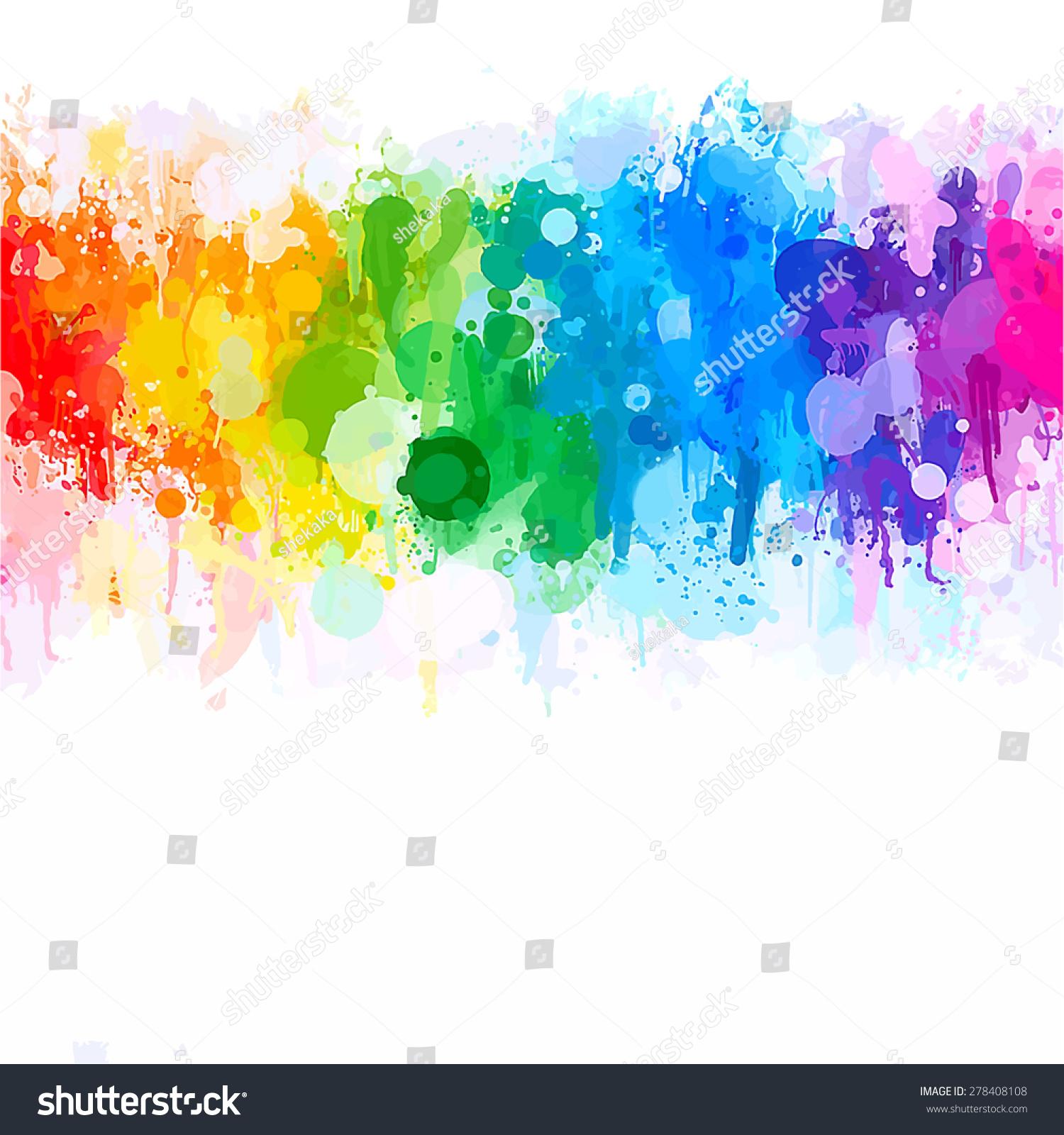 watercolor彩虹brush strokes背景.raster版本