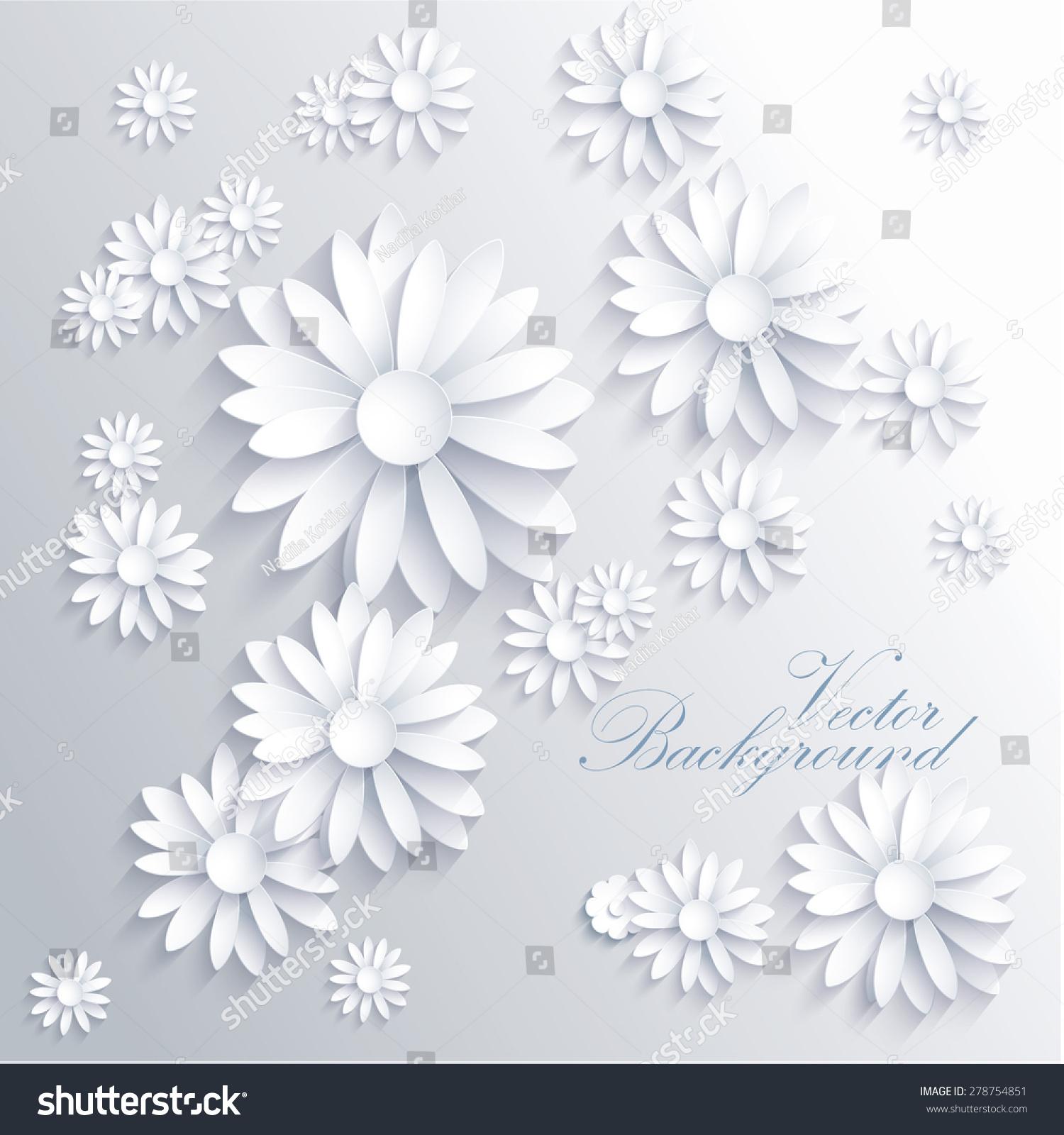 抽象的背景与白色纸花-背景/素材,抽象-海洛创意()-合