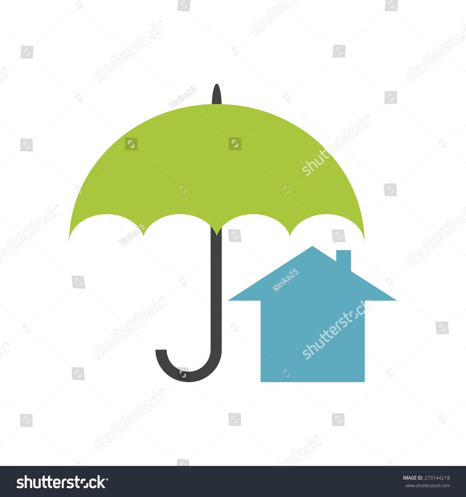 房地产安全.青瓦台保护绿色的雨伞-建筑物/地标,符号