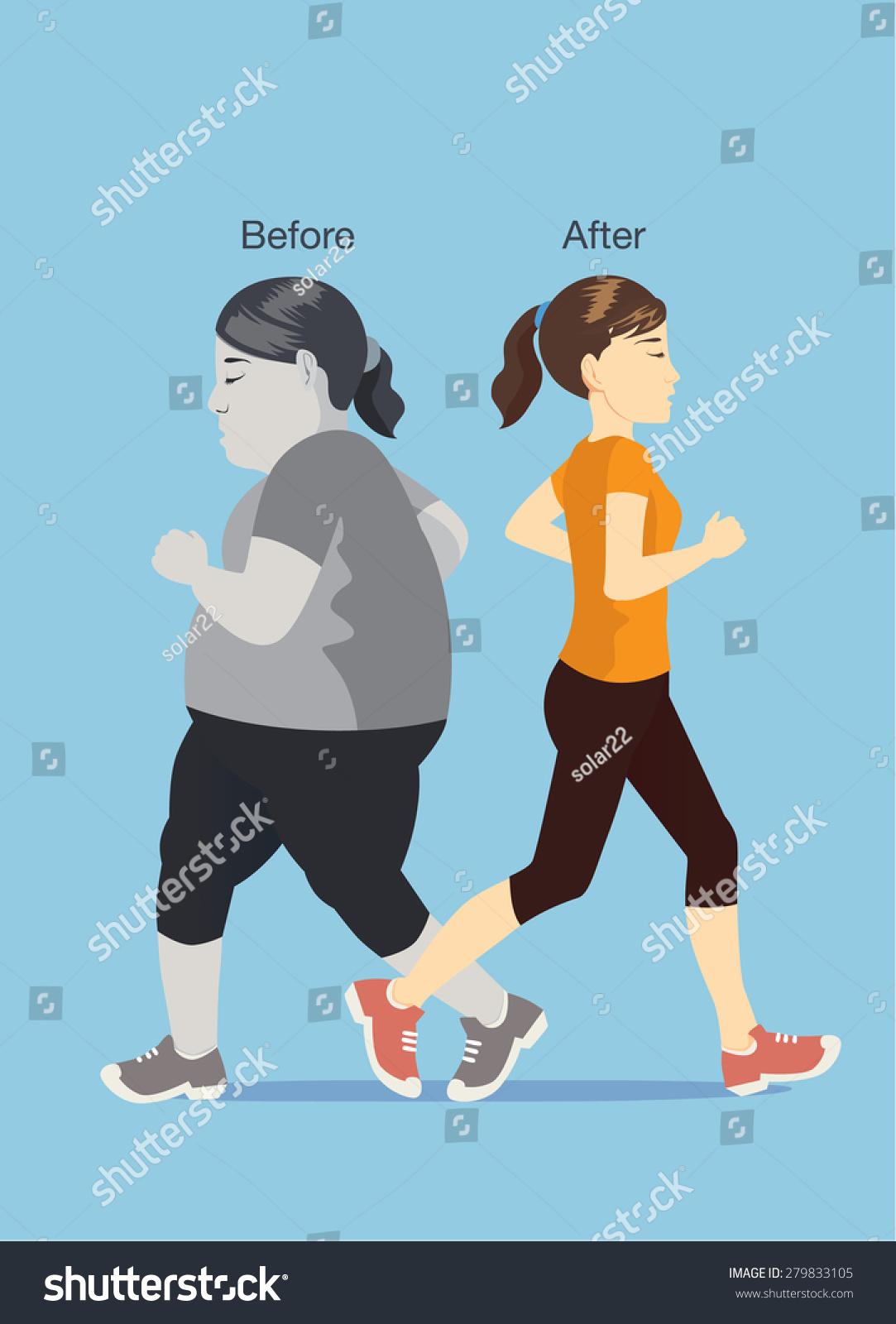 可爱卡通 胖子跑步