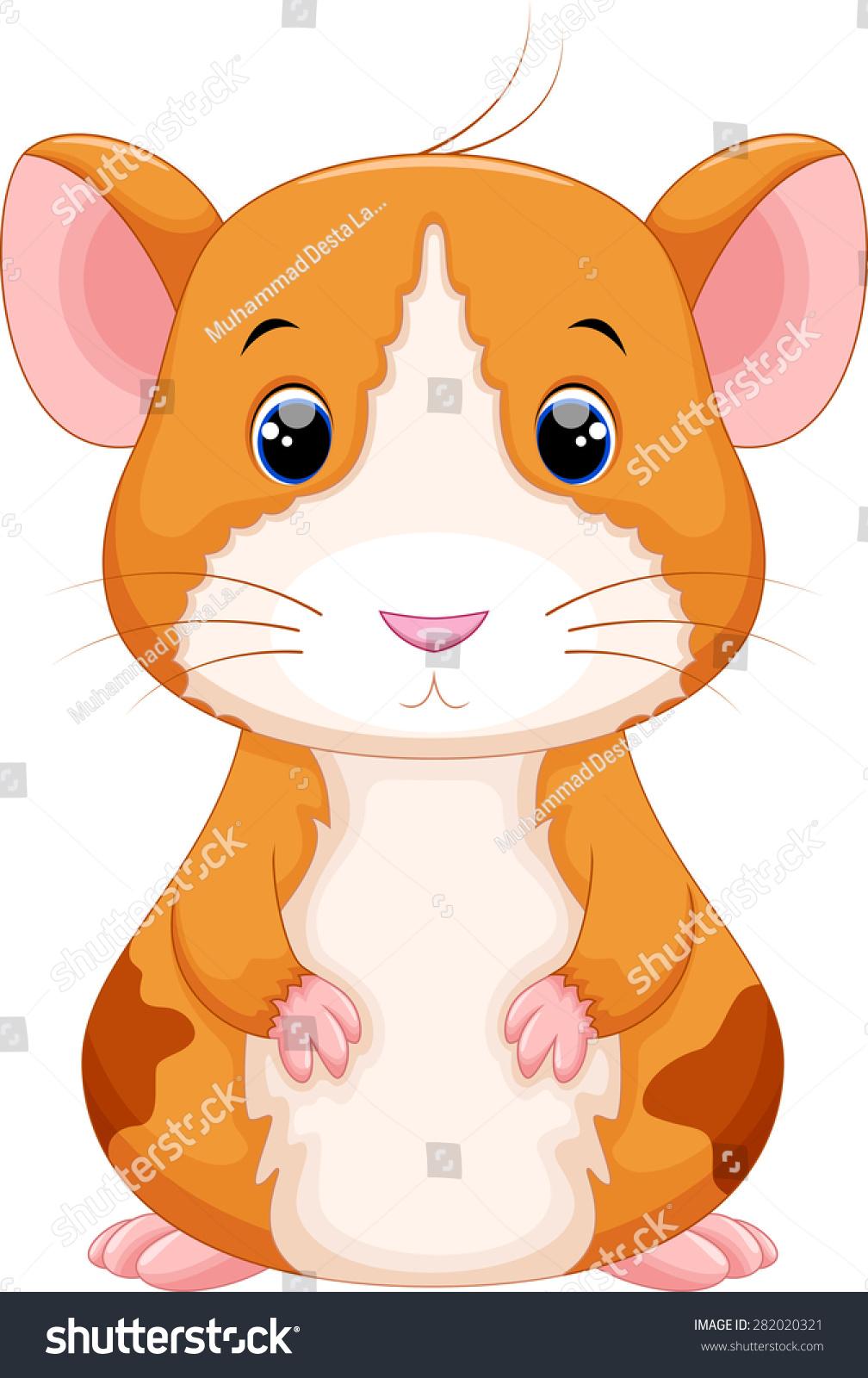 可爱的仓鼠卡通-动物/野生生物-海洛创意(hellorf)--.