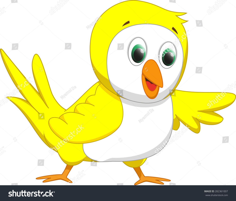 可爱的黄色小鸟卡通-动物/野生生物-海洛创意(hellorf