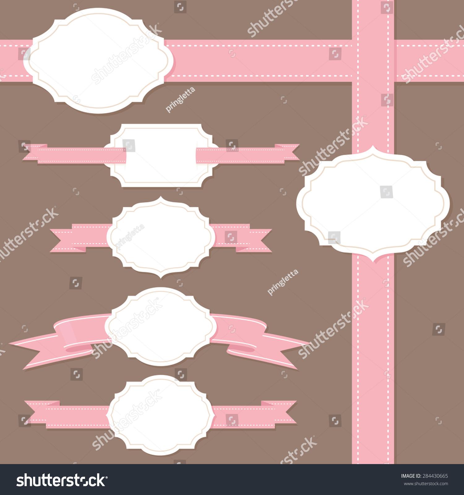 文本框与粉红丝带你的信息.-背景/素材,抽象-海洛创意